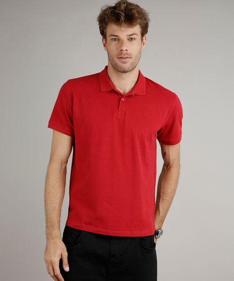 Polo-Masculina-em-Piquet-Basica-Comfort-Fit-Manga-Curta-Vermelha-9597168-Vermelho_1