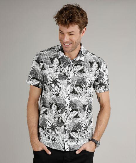 Camisa-Masculina-Tradicional-Estampada-de-Floresta-Manga-Curta-Branca-9516956-Branco_1
