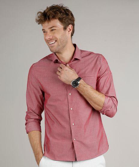 Camisa-Masculina-Slim-Fit-Estampada-Manga-Longa-Vinho-9690631-Vinho_1
