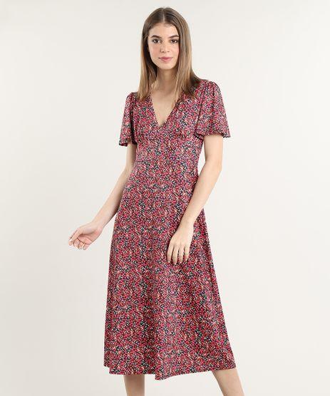 Vestido-Feminino-Mindset-Midi-Estampado-Floral-Manga-Curta-Preto-9831041-Preto_1