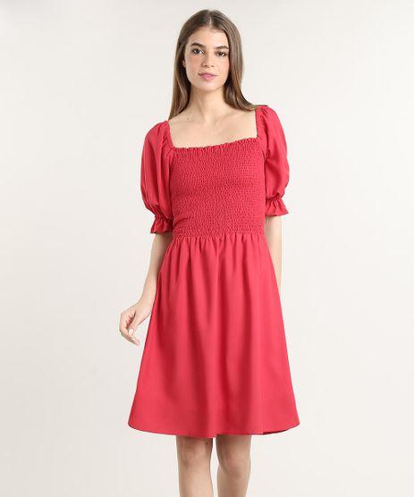 Vestido-Feminino-Mindset-Curto-Manga-Bufante-Vermelho-9830530-Vermelho_1