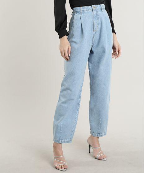 Calca-Jeans-Feminina-Mindset-Carrot-com-Pregas-Azul-Claro-9830523-Azul_Claro_1