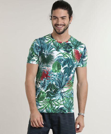 Camiseta-Masculina-Estampada-de-Folhagem-Manga-Curta-Gola-Careca-Branca-9623018-Branco_1