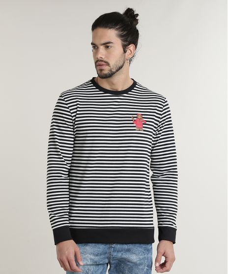 Camiseta-Masculina-E-T-Listrada-Manga-Longa-Gola-Careca-Preta-9720757-Preto_1