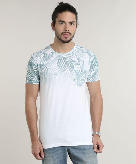 Camiseta-Masculina-com-Estampa-de-Folhagem-Degrade-Manga-Curta-Gola-Careca-Off-White-9757277-Off_White_1