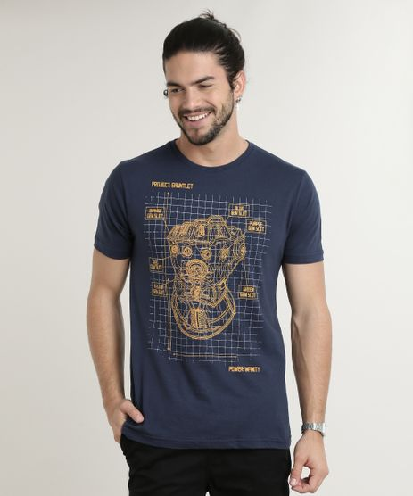Camiseta-Masculina-Manopla-do-Inifinito-Os-Vingadores-Manga-Curta-Gola-Careca-Azul-Marinho-9757270-Azul_Marinho_1