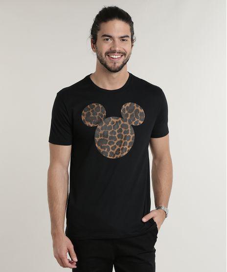Camiseta-Masculina-Mickey-Animal-Print-Manga-Curta-Gola-Careca-Preta-9759810-Preto_1