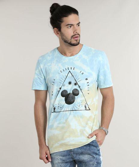 Camiseta-Masculina-Mickey-Estampada-Tie-Dye-Manga-Curta-Gola-Careca-Azul-Claro-9753113-Azul_Claro_1