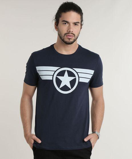 Camiseta-Masculina-Capitao-America-Manga-Curta-Gola-Careca-Azul-Marinho-9781571-Azul_Marinho_1
