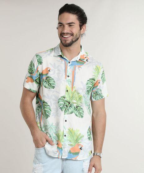 Camisa-Masculina-Tradicional-Estampada-de-Arara-Manga-Curta-Off-White-9734602-Off_White_1