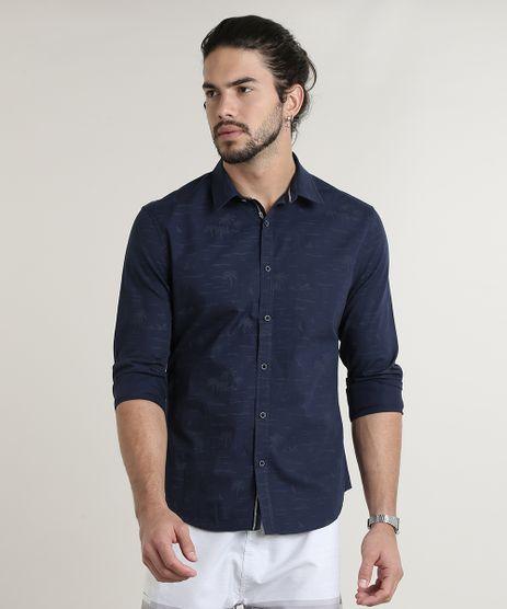 Camisa-Masculina-Slim-Estampada-de-Coqueiros-Manga-Longa-Azul-Marinho-9645937-Azul_Marinho_1