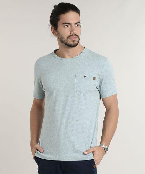Camiseta-Masculina-Listrada-com-Bolso-Manga-Curta-Gola-Careca-Verde-Claro-9757177-Verde_Claro_1