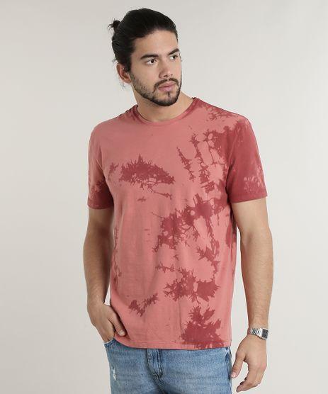 Camiseta-Masculina-Estampada-Tie-Dye-Manga-Curta-Gola-Careca-Vermelha-9778737-Vermelho_1
