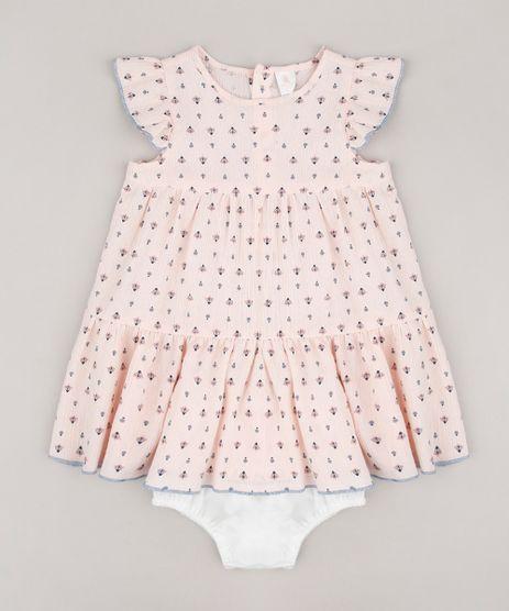 Vestido-Infantil-Estampado-de-Arabescos-Manga-Curta---Calcinha-Rosa-Claro-9566016-Rosa_Claro_1