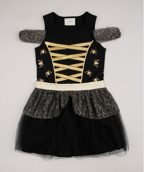 Vestido-Infantil-Halloween-Open-Shoulder-com-Tule-Manga-Curta-Preto-9721038-Preto_1