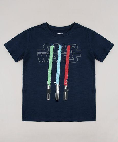 Camiseta-Infantil-Star-Wars-com-Paete-Dupla-Face-Manga-Curta-Azul-Marinho-9690926-Azul_Marinho_1