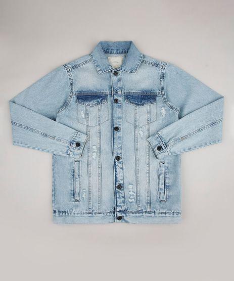 Jaqueta-Jeans-Infantil-Destroyed--Azul-Claro-9660403-Azul_Claro_1
