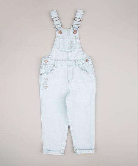 Macacao-Jeans-Infantil-com-Bordado-Floral-e-Bolso-Azul-Claro-9680810-Azul_Claro_1
