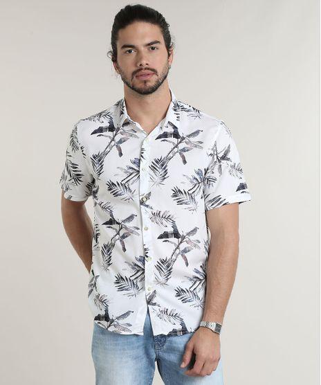 Camisa-Masculina-Tradicional-Estampada-de-Folhagem-Manga-Curta-Off-White-9614145-Off_White_1