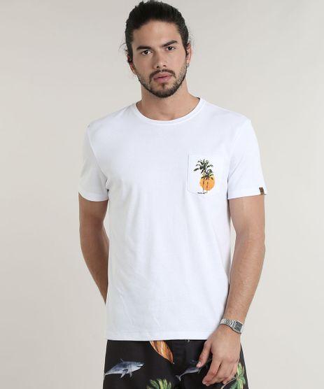 Camiseta-Masculina-com-Bolso--Sunset--Manga-Curta-Gola-Careca--Branca-9766768-Branco_1