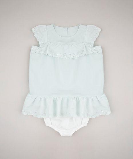 Vestido-Infantil-com-Laise-Manga-Curta---Calcinha-Verde-Claro-9582567-Verde_Claro_1