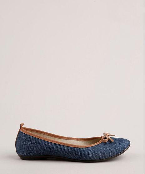 Sapatilha-Jeans-Feminina-Moleca-Bico-Redondo-com-Laco-Azul-Escuro-9760233-Azul_Escuro_1