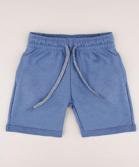 Bermuda-Infantil-em-Moletom-com-Bolso--Azul-9548922-Azul_1
