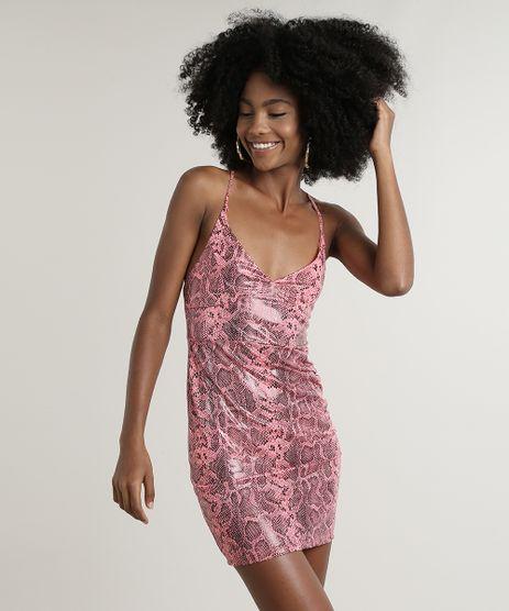 Vestido-Feminino-Curto-Estampado-Animal-Print-Cobra-Alcas-Finas-Rosa-Neon-9729715-Rosa_Neon_1