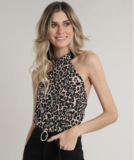 Body-Feminino-Bluse-Frente-Unica-Estampado-Animal-Print-Onca-com-Borboletas-Bege-9710027-Bege_1