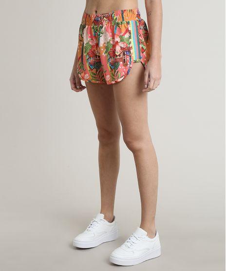 Short-Feminino-Esportivo-Ace-Running-Estampado-Bahia-Coral-9769809-Coral_1