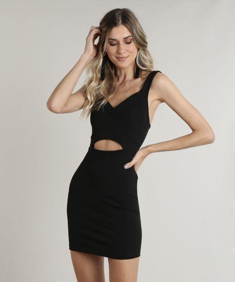 Vestido-Feminino-Curto-com-Vazado-Alca-Larga-Preto-9808387-Preto_1