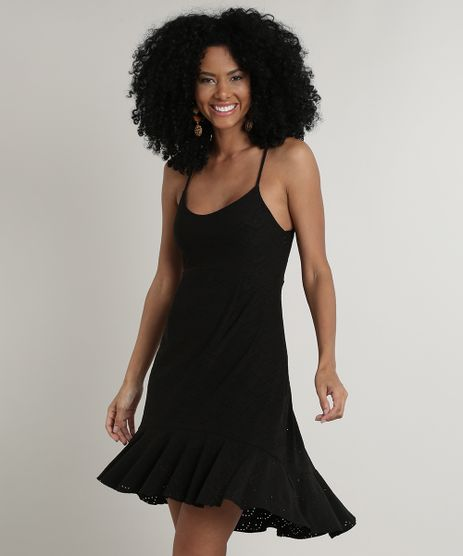 Vestido-Feminino-Curto-em-Laise-com-Argola-Alca-Fina-Preto-9694165-Preto_1