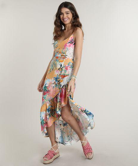 Vestido-Feminino-Midi-Assimetrico-Estampado-Ilha-Alcas-Finas-Laranja-Claro-9672355-Laranja_Claro_1
