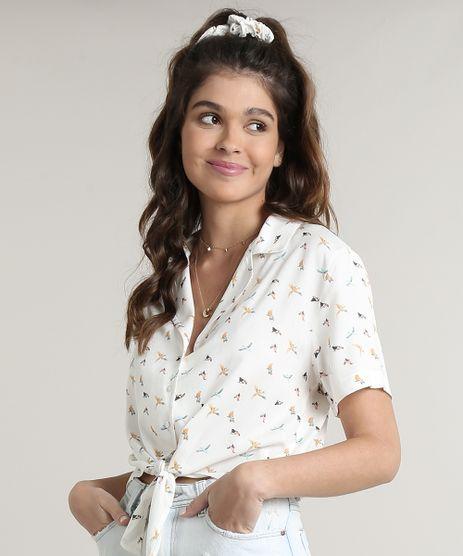 Camisa-Feminina-Cropped-Estampada-Passaros-com-No-Manga-Curta-Off-White-9700290-Off_White_1