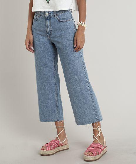 Calca-Jeans-Feminina-Pantacourt-com-Barra-a-Fio-Azul-Medio-9695002-Azul_Medio_1