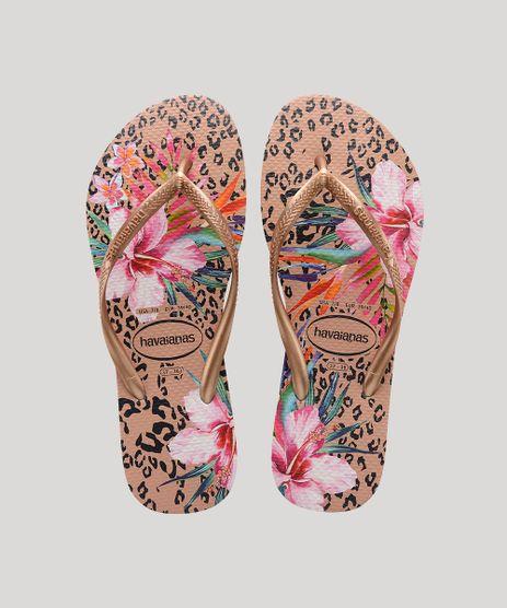 Chinelo-Feminino-Havaianas-Slim-Metalizado-Estampado-Animal-Print-Onca-e-Floral-Rose-9699335-Rose_1