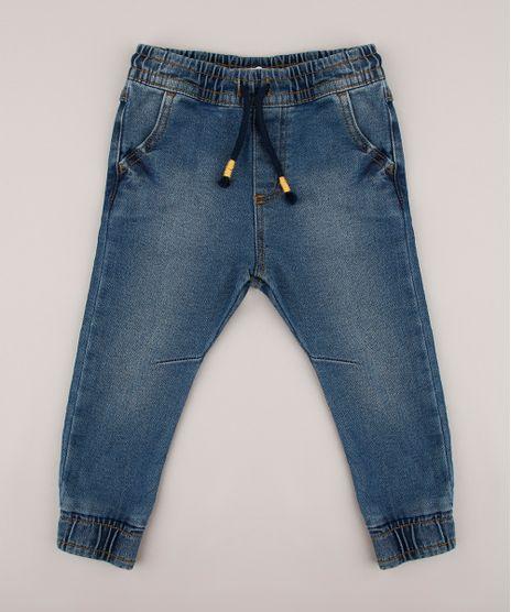 Calca-Jeans-Infantil-Jogger-com-Bolsos-Azul-Escuro-9525468-Azul_Escuro_1