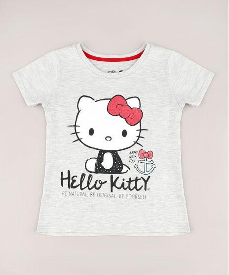 Blusa-Infantil-Hello-Kitty-Manga-Curta-Cinza-Mescla-Claro-9680218-Cinza_Mescla_Claro_1