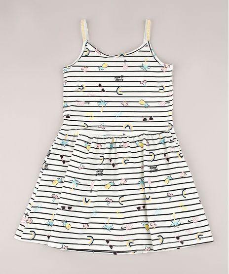 Vestido-Infantil-Listrado-Tropical-com-Laco-e-Lurex-Alcas-Finas-Off-White-9745058-Off_White_1