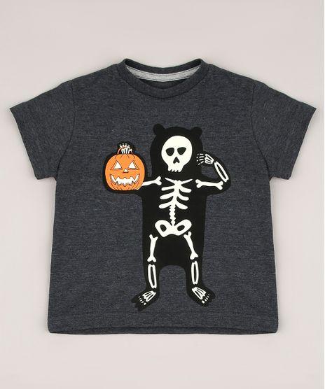 Camiseta-Infantil-Halloween-Esqueleto-Brilha-no-Escuro-Manga-Curta-Cinza-Mescla-Escuro-9702932-Cinza_Mescla_Escuro_1