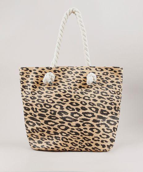 Bolsa-Feminina-Shopper-Grande-Estampada-Animal-Print-Onca-com-Palha-Bege-9602425-Bege_1