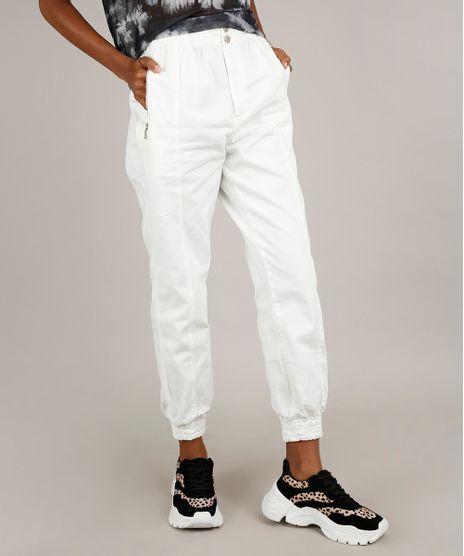 Calca-de-Sarja-Feminina-Jogger-com-Bolsos-Off-White-9753713-Off_White_1