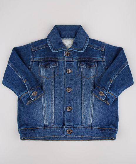 Jaqueta-Jeans-Infantil-em-Moletom-Azul-Escuro-8556540-Azul_Escuro_1