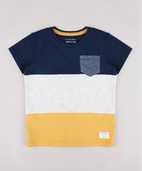 Camiseta-Infantil-Listrada-com-Recortes-e-Bolso-Manga-Curta-Azul-Marinho-9733622-Azul_Marinho_1