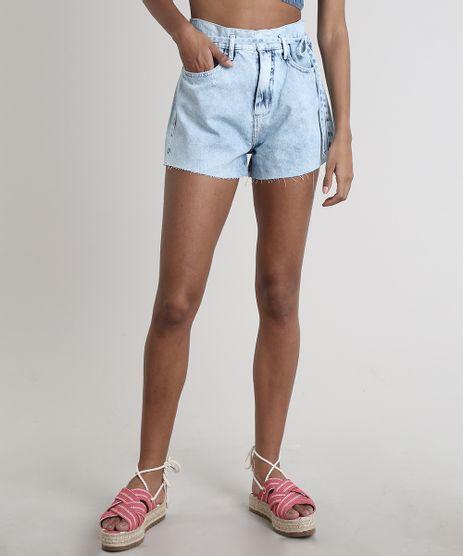 Short-Jeans-Feminino-Clochard-com-Barra-Desfiada-e-Faixa-Azul-Claro-9756065-Azul_Claro_1