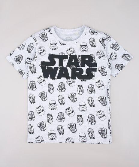 Camiseta-Infantil-Star-Wars-Estampada-Manga-Curta-Cinza-Mescla-Claro-9730542-Cinza_Mescla_Claro_1