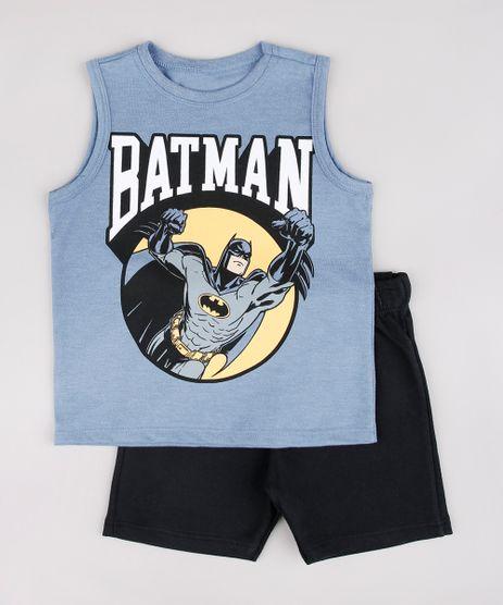 Conjunto-Infantil-Batman-de-Regata-Azul---Bermuda-em-Moletom-Preta-9752863-Preto_1