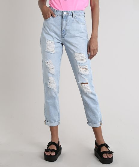 Calca-Jeans-Feminina-Mom-Destroyed-Azul-Claro-9751059-Azul_Claro_1