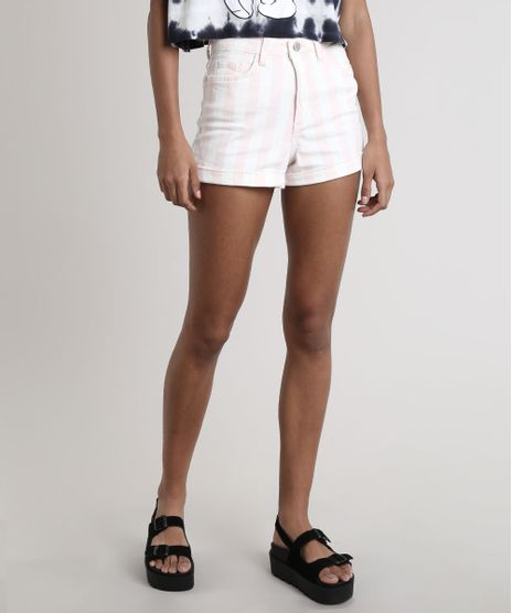 Short-de-Sarja-Feminino-Hot-Pant-Listrado-Barra-Dobrada-Off-White-9693949-Off_White_1