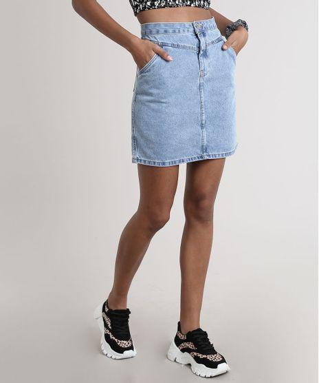 Saia-Jeans-Feminina-Curta-com-Recorte--Azul-Medio-9753724-Azul_Medio_1
